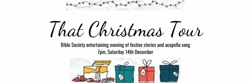 7:00pm An entertaining evening of festive stories and acapella song